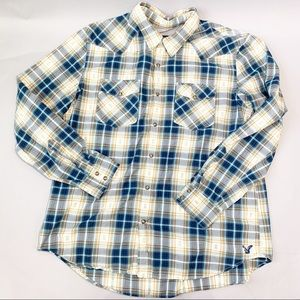 American Eagle Long Sleeve Snap Button Shirt